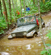 Terry in deep with Diane's YJ